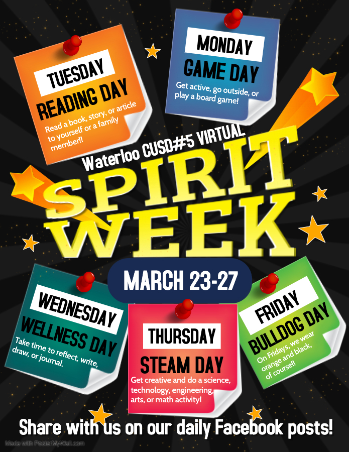 Virtual Spirit Week 3/23-3/27