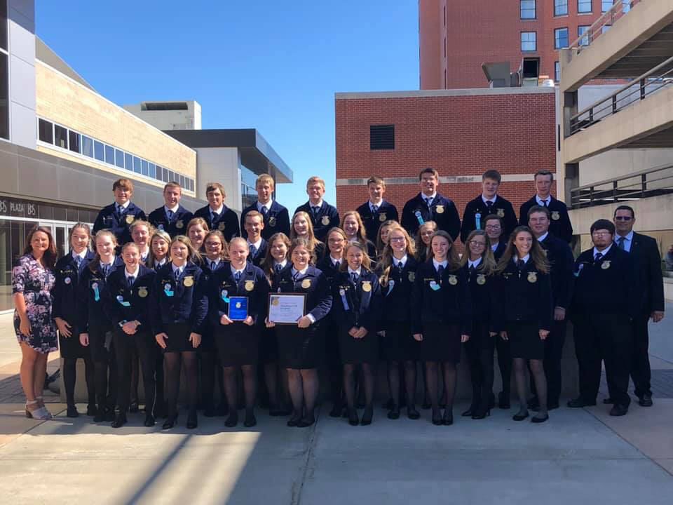 WHS FFA is the 3rd Place Chapter in the State!
