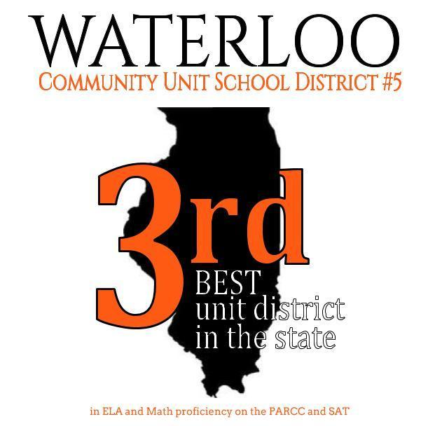 Waterloo CUSD #5 Ranked 3rd Best Unit District in the State