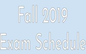 REVISED Fall 2019 Exam Schedule